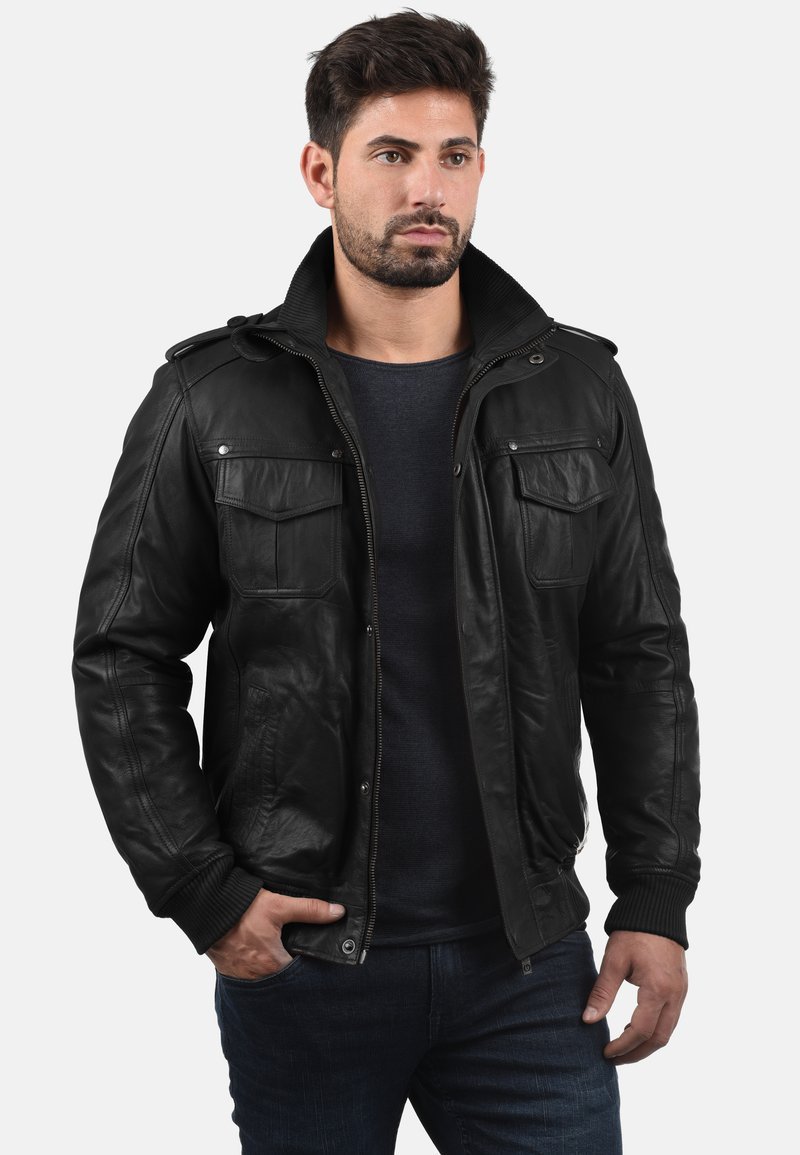 Solid - CAMASH - Leather jacket - black