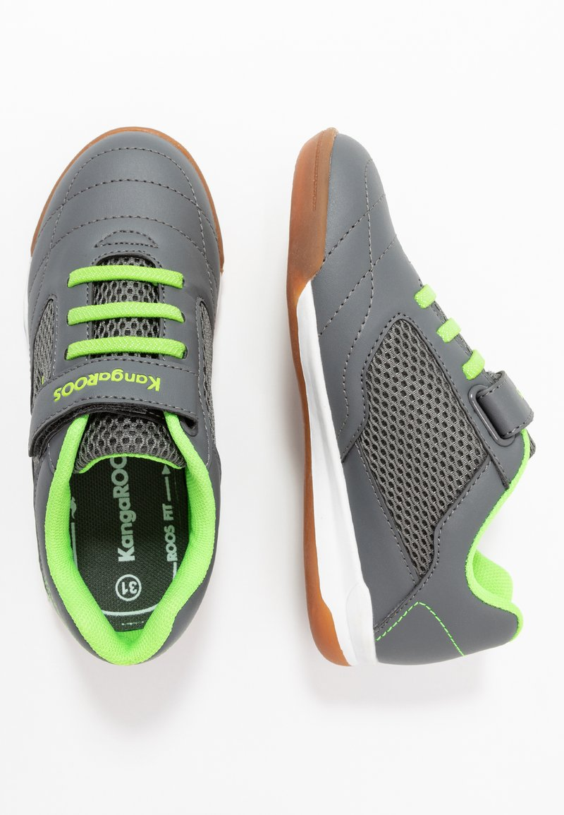 KangaROOS - RACE YARD - Sneakers - steel grey/lime