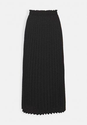 ONLDORA MIDI PLISSE SKIRT - Áčková sukně - black