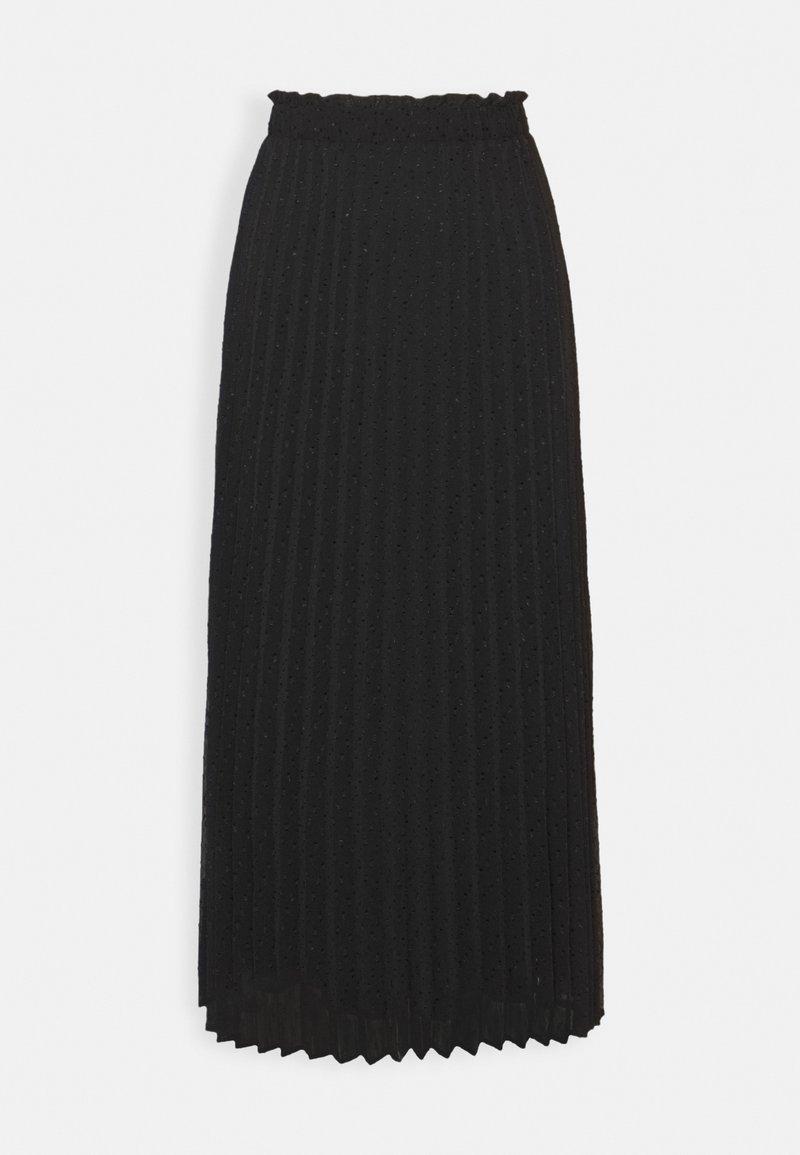 ONLY - ONLDORA MIDI PLISSE SKIRT - A-line skirt - black