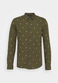 Scotch & Soda - SLIM FIT WITH ALL OVER PRINT - Skjorta - dark green/light pink - 4