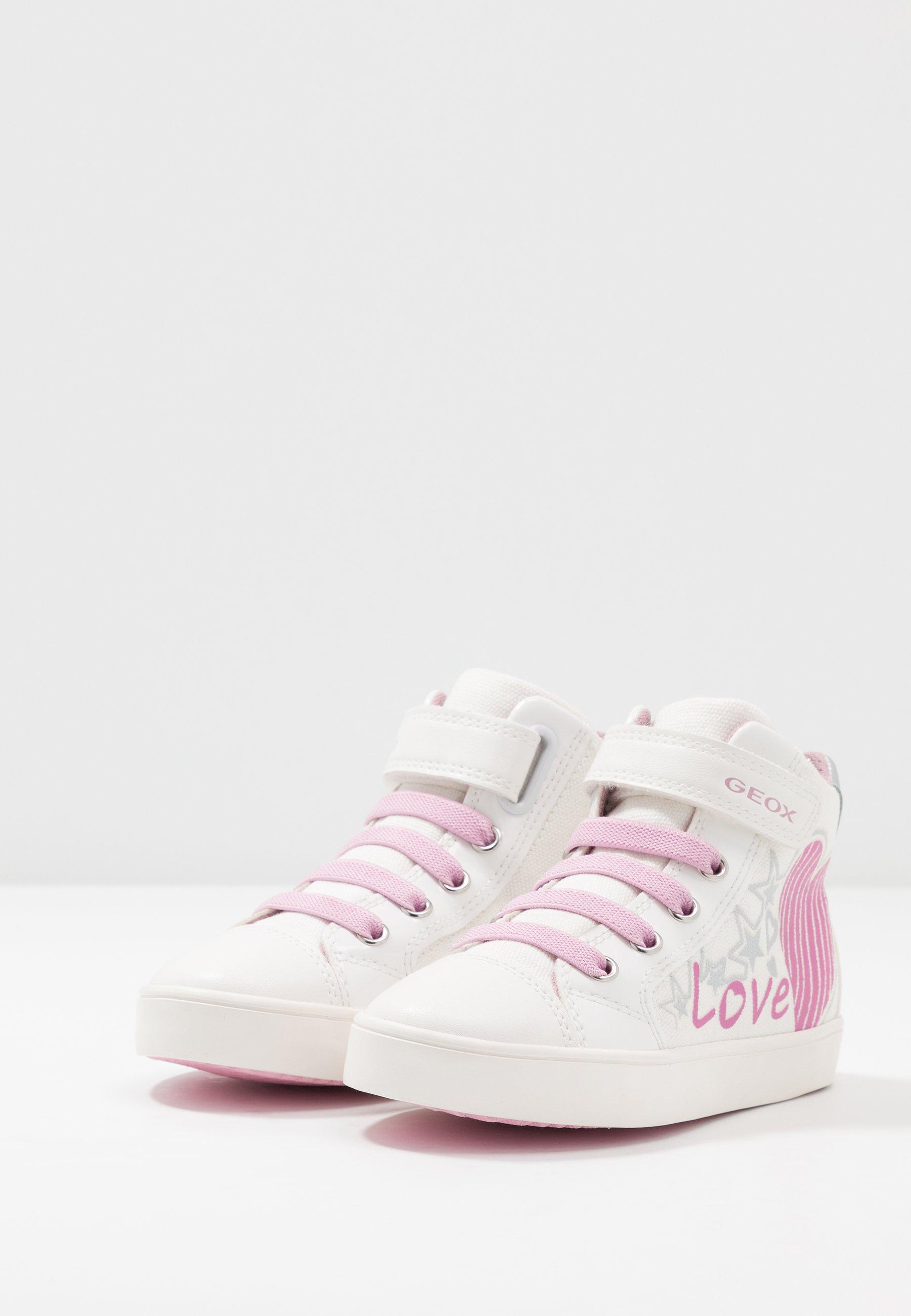 Escarpado Sedante paño  Geox GISLI GIRL - Zapatillas altas - white/pink - Zalando.es