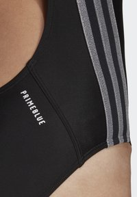 adidas Performance - GLAM-ON SHINY 3-STRIPES SWIMSUIT - Swimsuit - black - 6