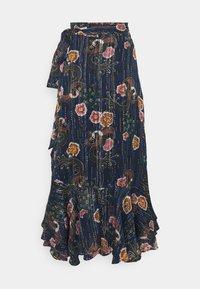 Scotch & Soda - PRINTED WRAP SKIRT IN SHEER STRIPE - Áčková sukně - blue - 1