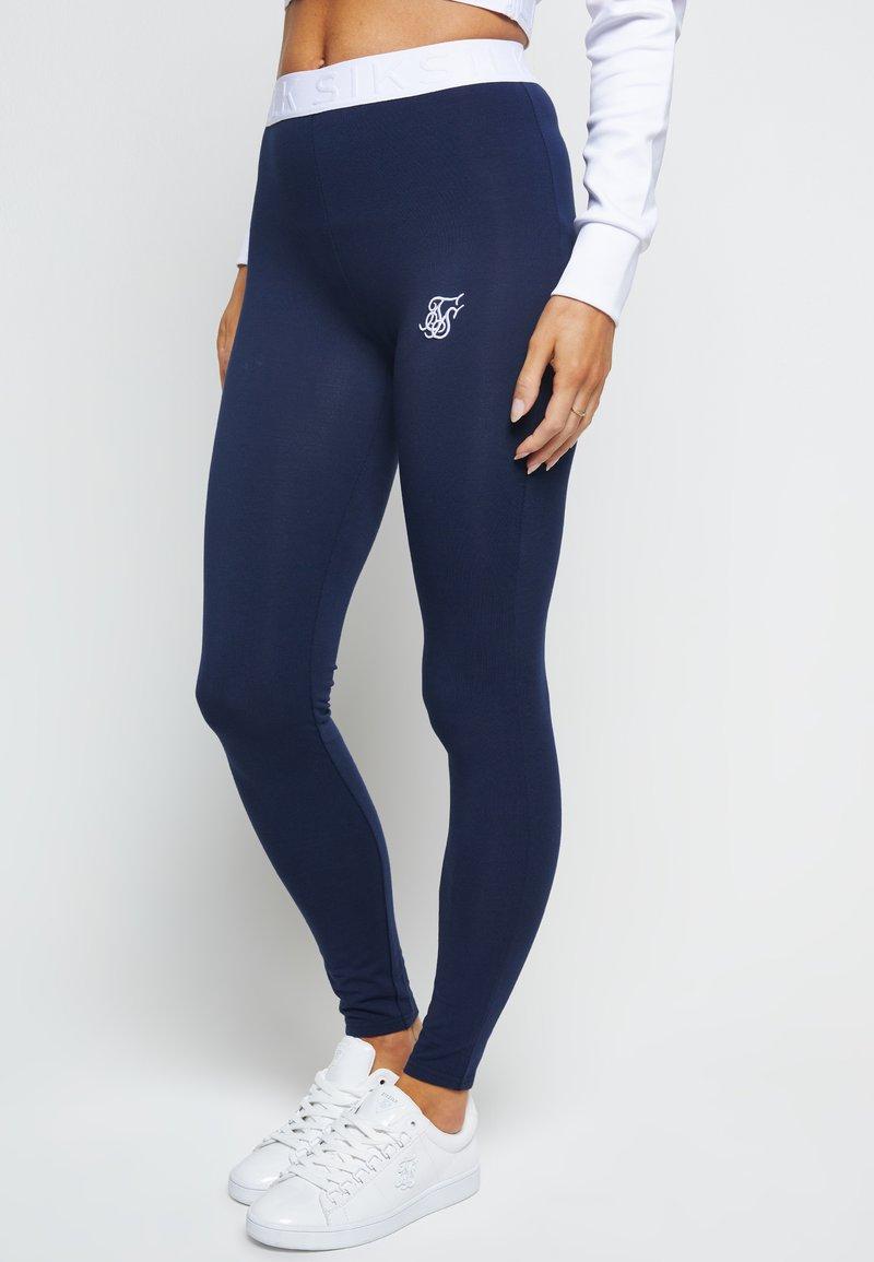 SIKSILK - Leggings - Trousers - navy
