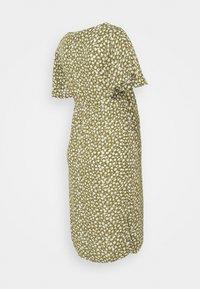 Supermom - FLOWER - Sukienka letnia - olive drap - 1