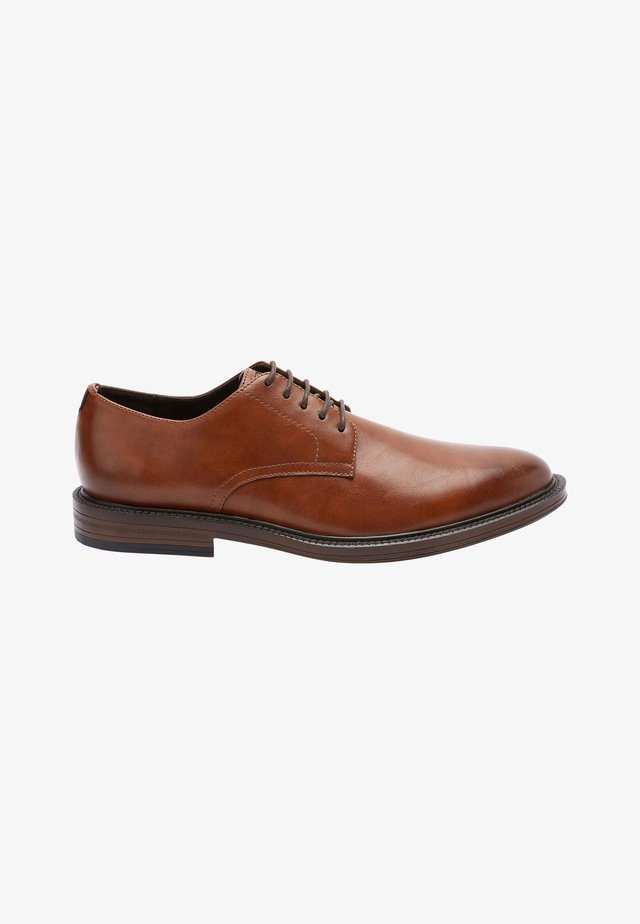 Elegantní šněrovací boty - tan