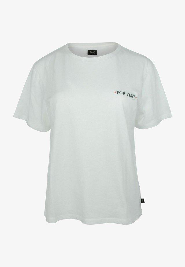 VIHTI W - T-shirt print - white