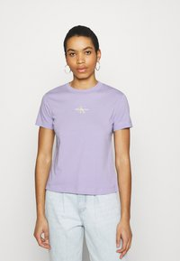 Calvin Klein Jeans - MONOGRAM LOGO TEE - T-shirt basique - palma lilac - 0