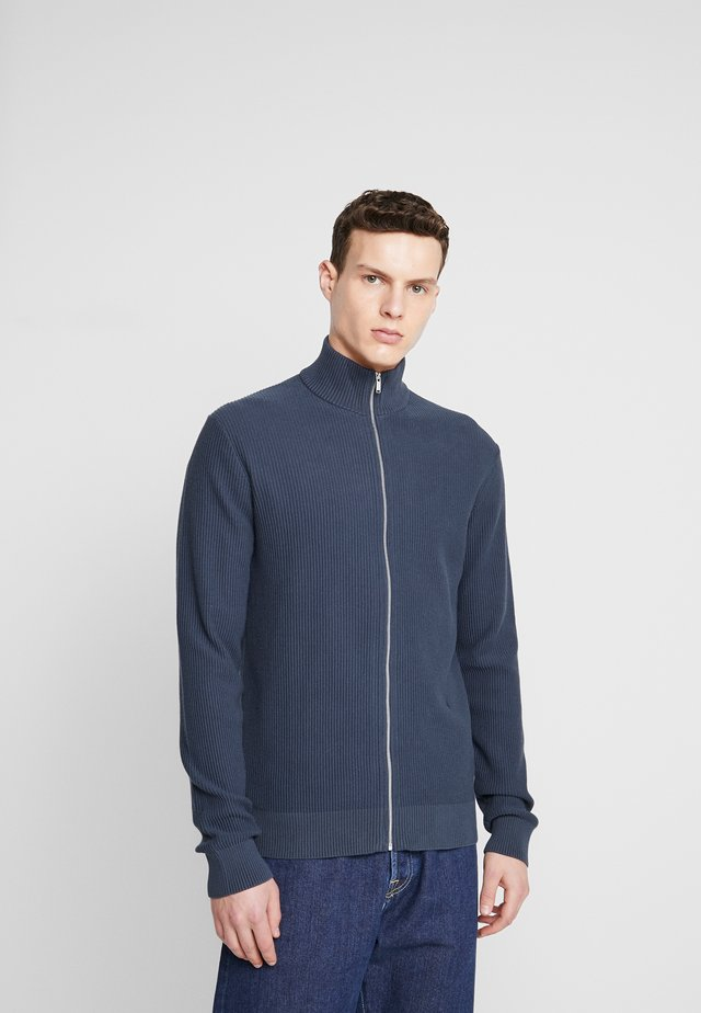 STRUCTURE ZIP - Cardigan - mid blue