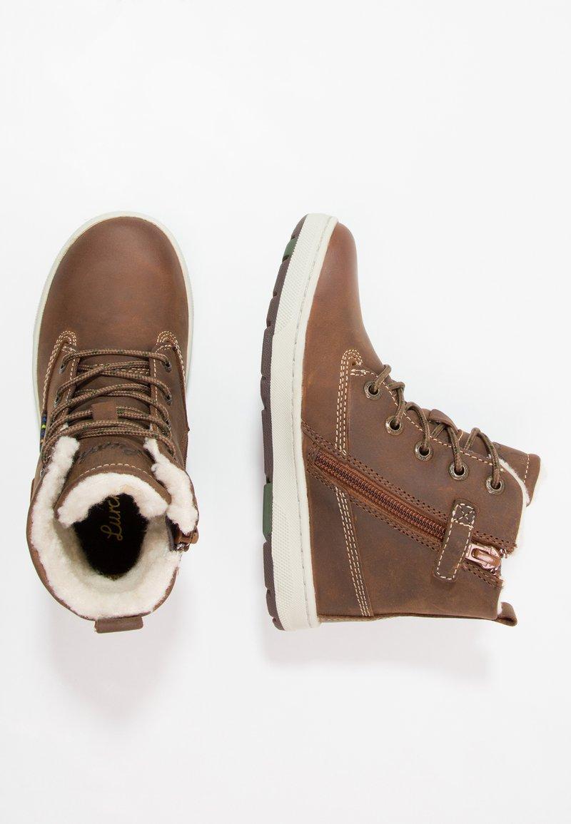 Lurchi - DOUG-TEX - Šněrovací kotníkové boty - tan tabacco