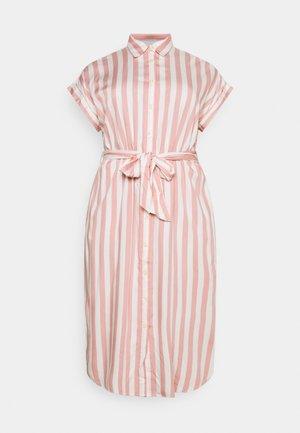 CICERO SHORT SLEEVE CASUAL DRESS - Shirt dress - pink/white