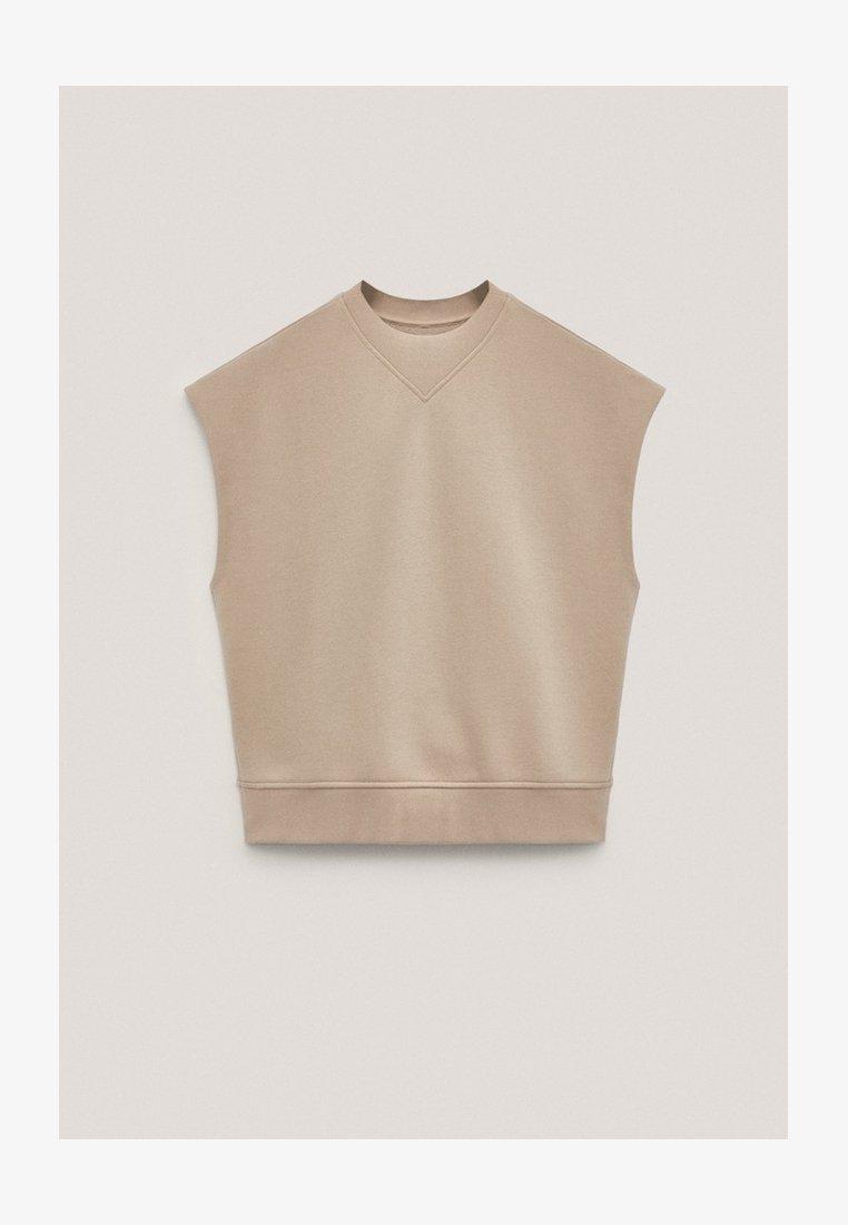 Massimo Dutti - Basic T-shirt - nude