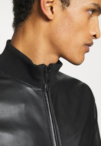 Emporio Armani - CABAN PELLE - Leather jacket - nero - 5