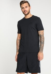 Under Armour - SPORTSTYLE LEFT CHEST - Basic T-shirt - black /black - 0