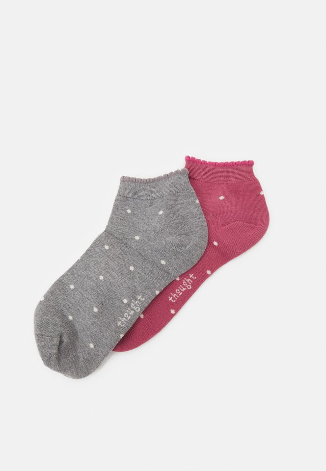 EUDORA SOCKS 2 PACK - Socks - dark rose pink/grey marl