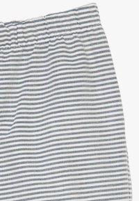 Müsli by GREEN COTTON - STRIPE BABY ZGREEN - Trousers - white/blue - 2