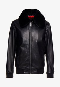 Oakwood - DADDY - Leather jacket - black - 4
