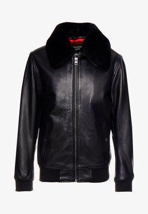 DADDY - Leather jacket - black