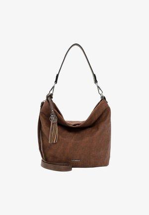 ELKE - Handbag - cognac/taupe