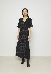 JUST FEMALE - HALLE WRAP DRESS - Maxi dress - dark blue - 0