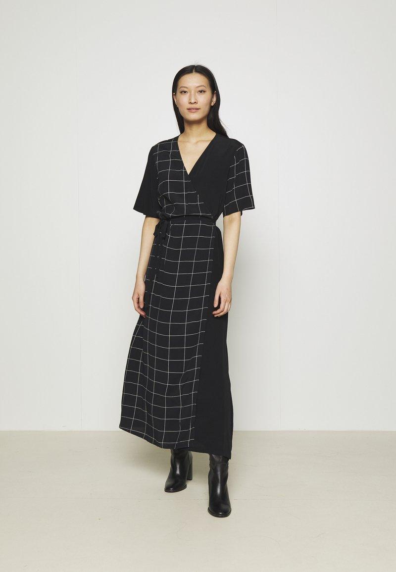 JUST FEMALE - HALLE WRAP DRESS - Maxi dress - dark blue