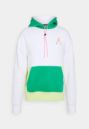 JUMPMAN AIR - Felpa con cappuccio - white/stadium green