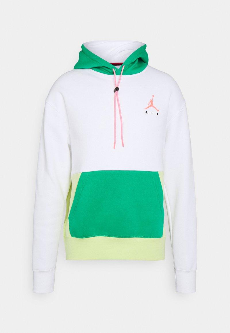 Jordan - JUMPMAN AIR - Felpa con cappuccio - white/stadium green