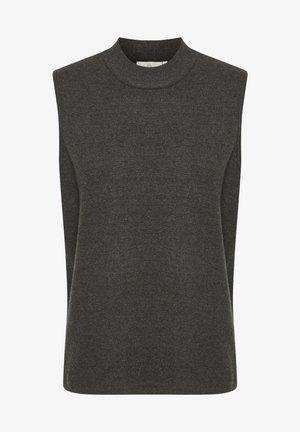 Top - dark grey melange