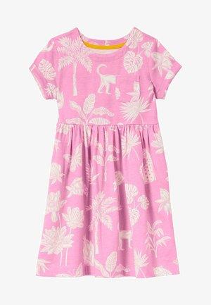 Jersey dress - pflaumenblütenrosa, botanikmuster