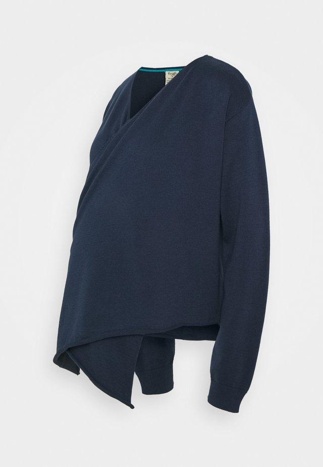 PENELOPE WRAP CARDIGAN - Vest - indigo