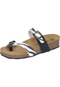 Dr. Brinkmann - T-bar sandals - weiß/zebra - 1