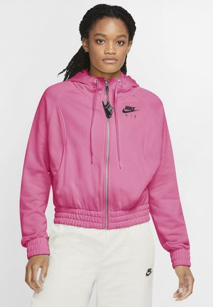 Zip-up hoodie - pinksicle/black