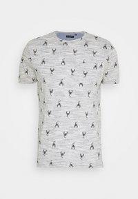 SCORPIO - Print T-shirt - charcoal/white