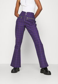 The Ragged Priest - BECK FLARED ZIP POCKETS - Trousers - purple - 0