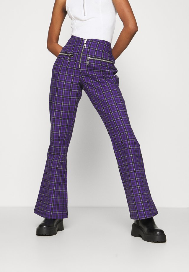 BECK FLARED ZIP POCKETS - Broek - purple