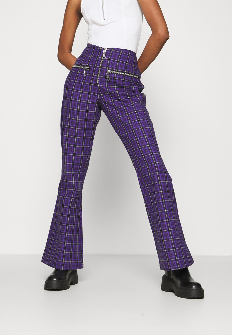 The Ragged Priest - BECK FLARED ZIP POCKETS - Trousers - purple