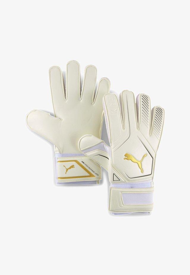 Goalkeeping gloves - puma white-gold-puma black