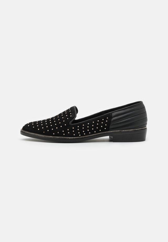 DECORATED WITH STUDS - Loaferit/pistokkaat - black