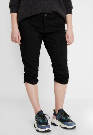 CAPRI - Denim shorts - black