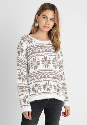 HOLIDAY SWEATER - Jumper - pristine chalk