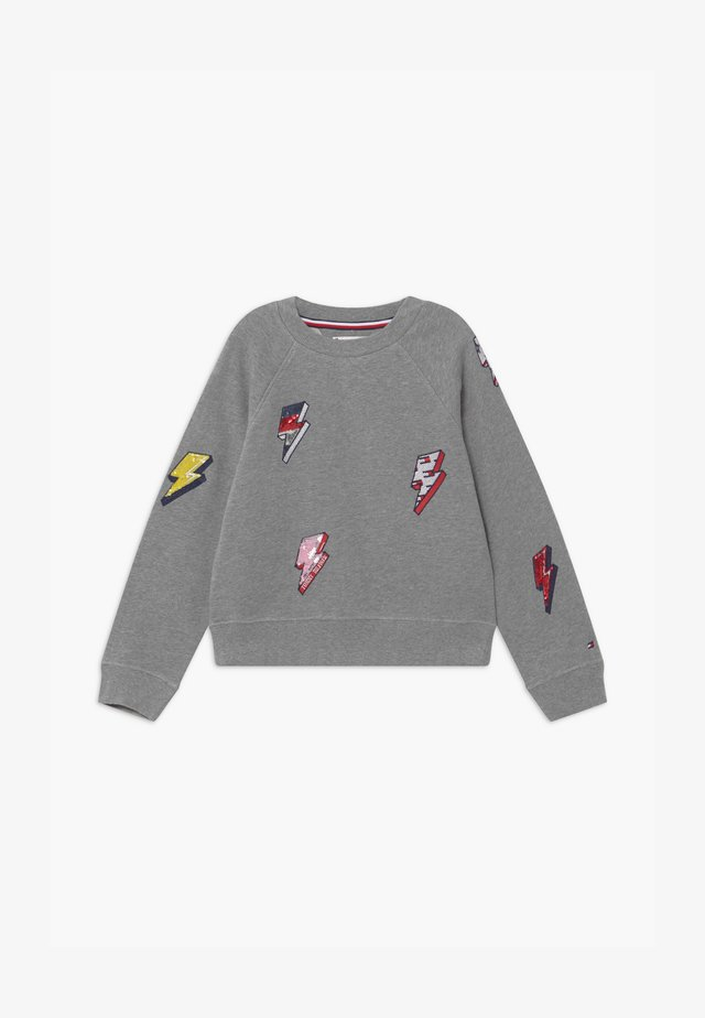 LIGHTING BOLT CREW - Sweatshirt - grey