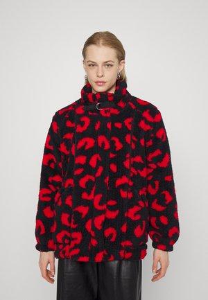 PRINTED LONG COAT - Ziemas mētelis - black/rudolph red