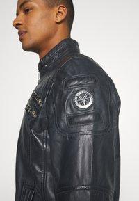 Carlo Colucci - BIKER JACKET - Leather jacket - anthra - 6