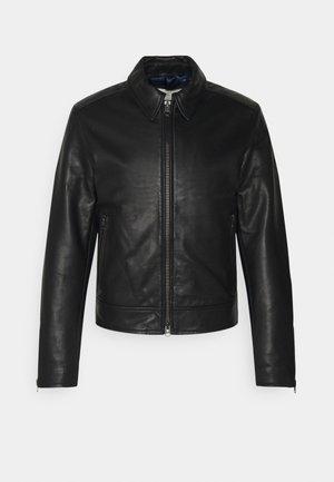 TANKER - Leather jacket - black