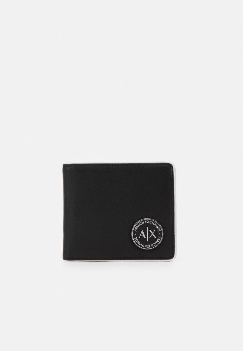 Armani Exchange - BIFOLD COIN POCKET MANS BIFOLD CREDIT CARD - Wallet - black/white