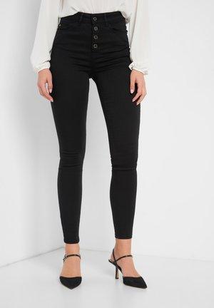 HIGH WAIST - Jeans Skinny Fit - schwarz