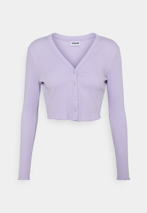 NMDRAKEY CROPPED CARDIGAN - Vest - pastel lilac