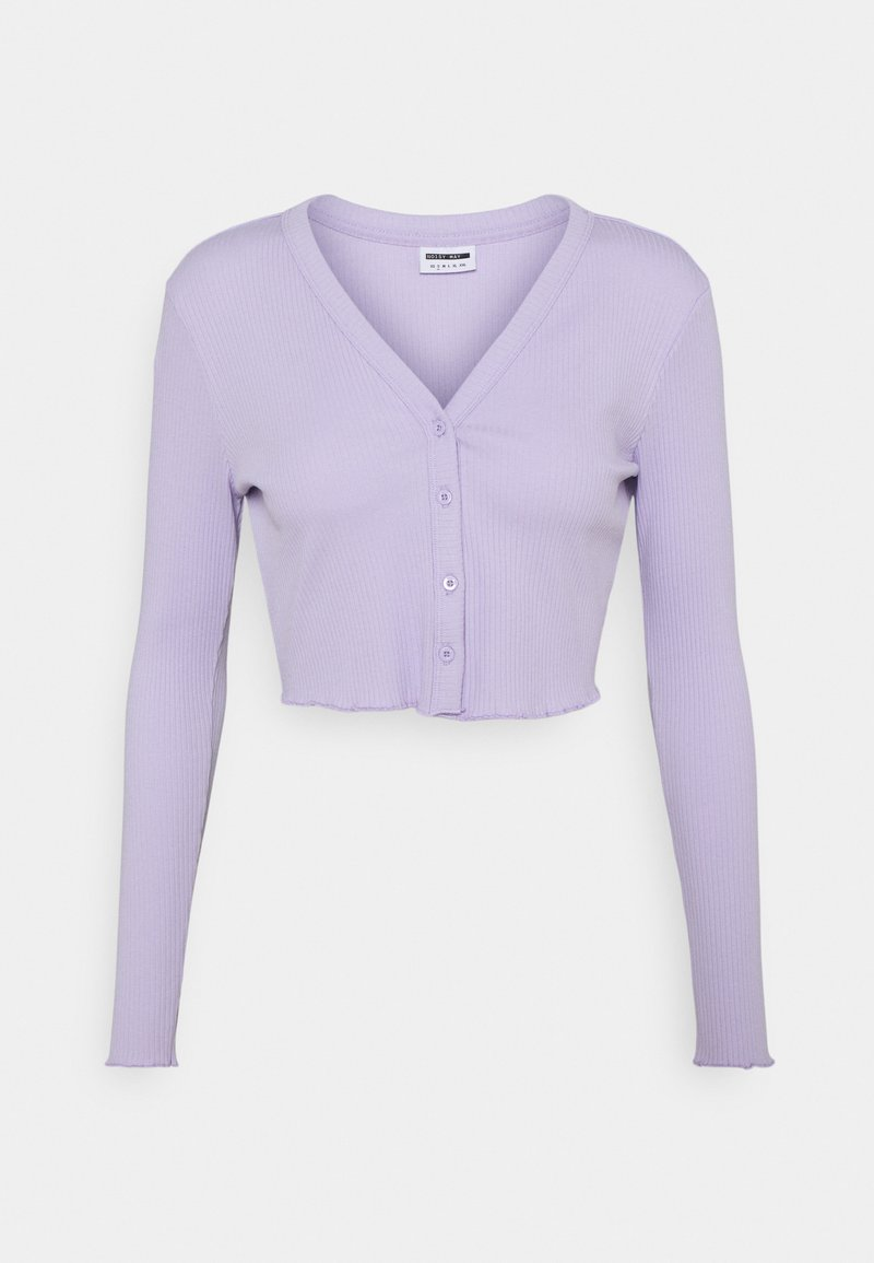 Noisy May Petite - NMDRAKEY CROPPED CARDIGAN - Gilet - pastel lilac