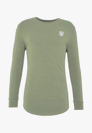 GYM TEE - Long sleeved top - khaki